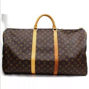 Auth Louis Vuitton Keepall Bandoliere 60